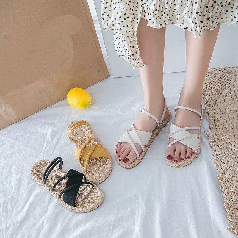 Sandalias Cómoda de Tiras Para Mujer