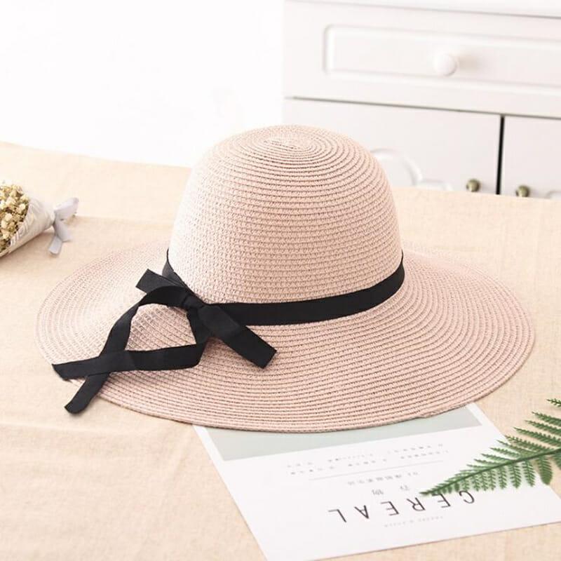Sombrero de Paja con Ala Ancha Crema