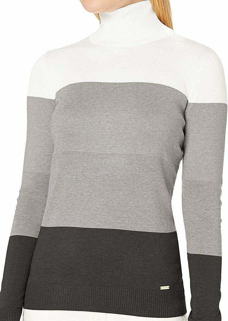 Jersey Cuello Tortuga Combo Calvin Klein Mujer