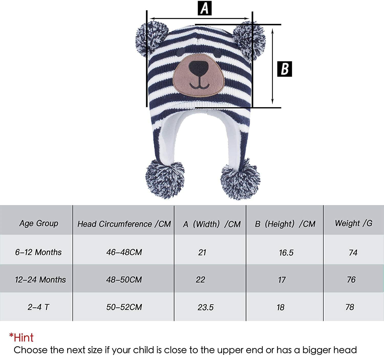 Gorro Oso Azul para Niños