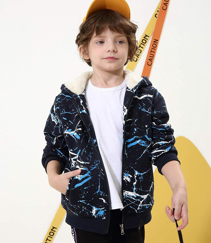 Chaqueta Sherpa Fleece Azul para Niños