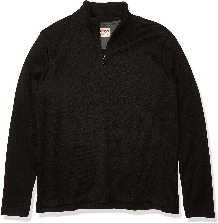 Wrangler Jersey Fleece Quarter-Zip Negro Hombre