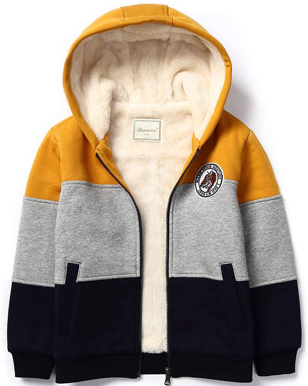 Chaqueta Sherpa Fleece Amarillo para Niños