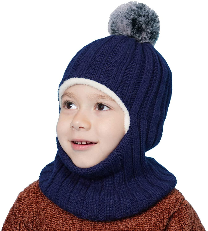Gorro de Invierno con Bufanda azul para Niñas