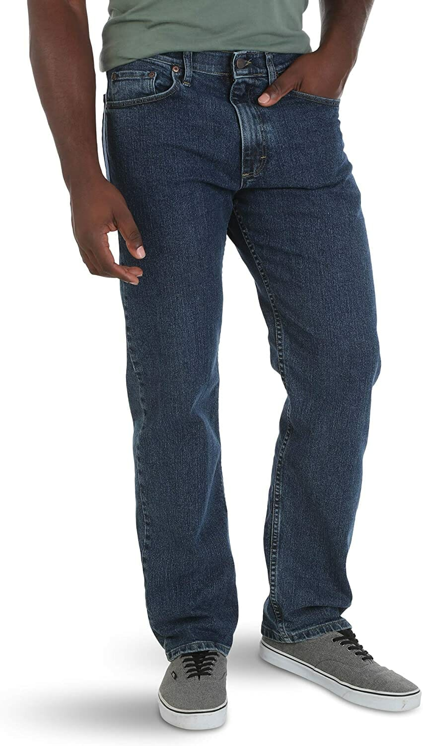 Wrangler Relaxed Fit Jean Dark Stonewash Hombre