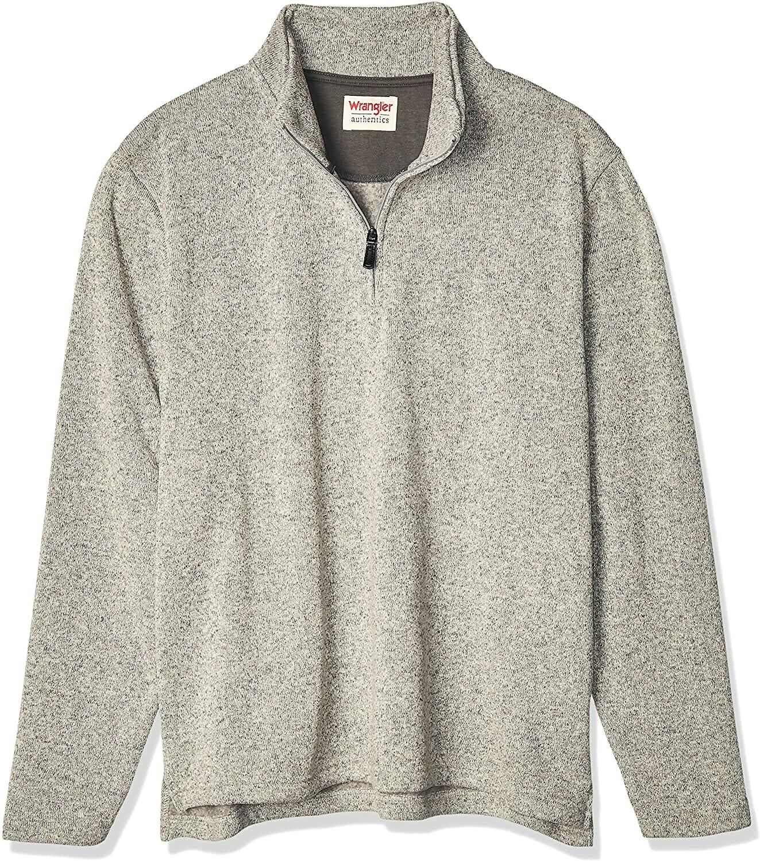 Wrangler Jersey Fleece Quarter-Zip Gris Hombre