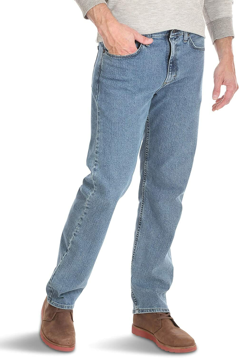Wrangler Relaxed Fit Jean Light Stonewash Hombre