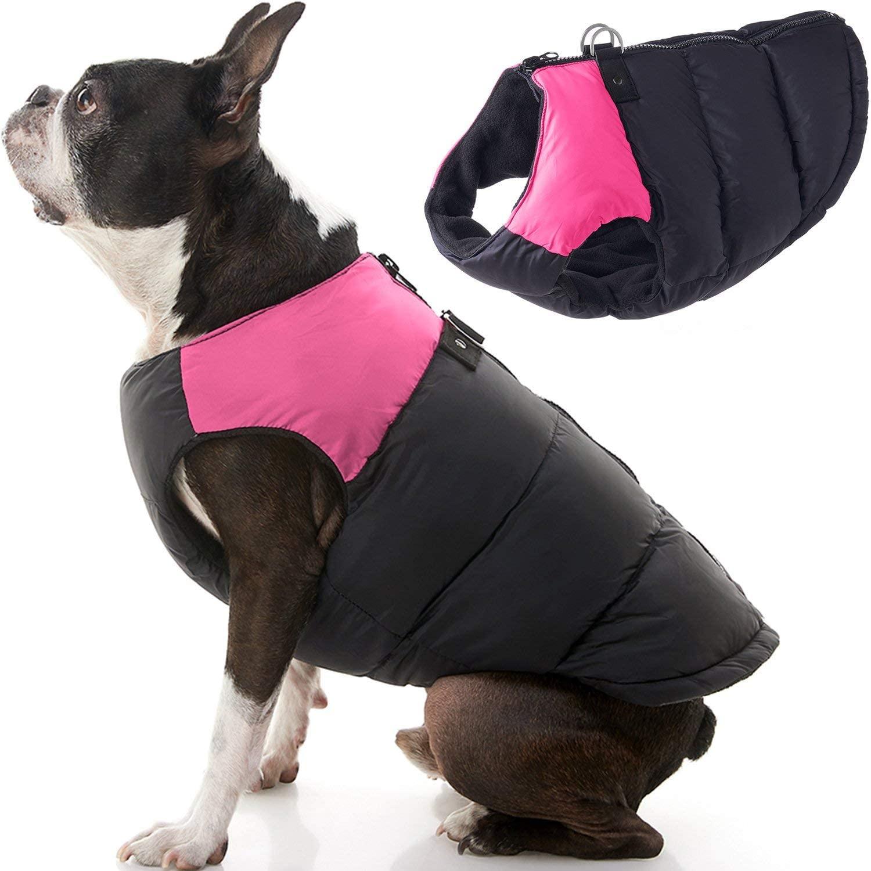 Chaleco con Cierre Espalda Negro Pink para Perros