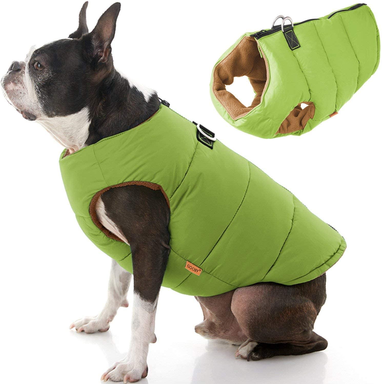 Chaleco con Cierre Espalda Verde para Perros
