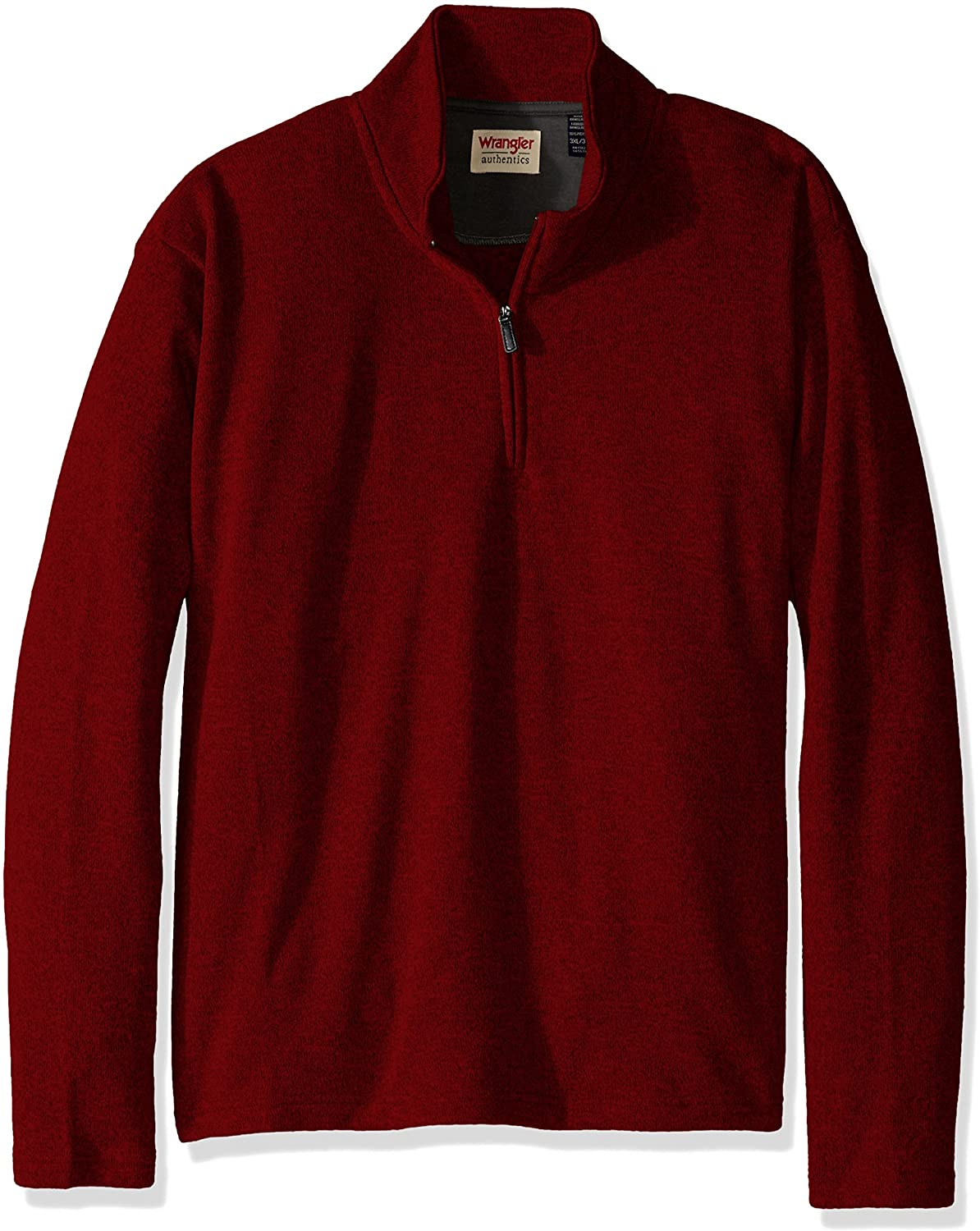Wrangler Jersey Fleece Quarter-Zip Rio Red Hombre