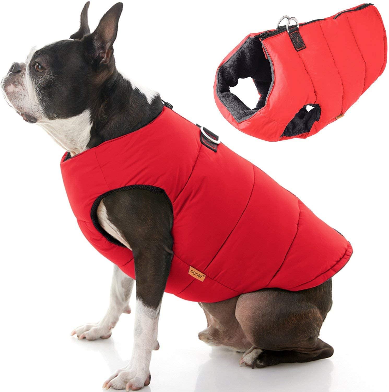 Chaleco con Cierre Espalda Rojo para Perros
