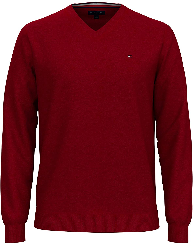 Tommy Hilfinger Jersey Cuello V Rojo Hombre