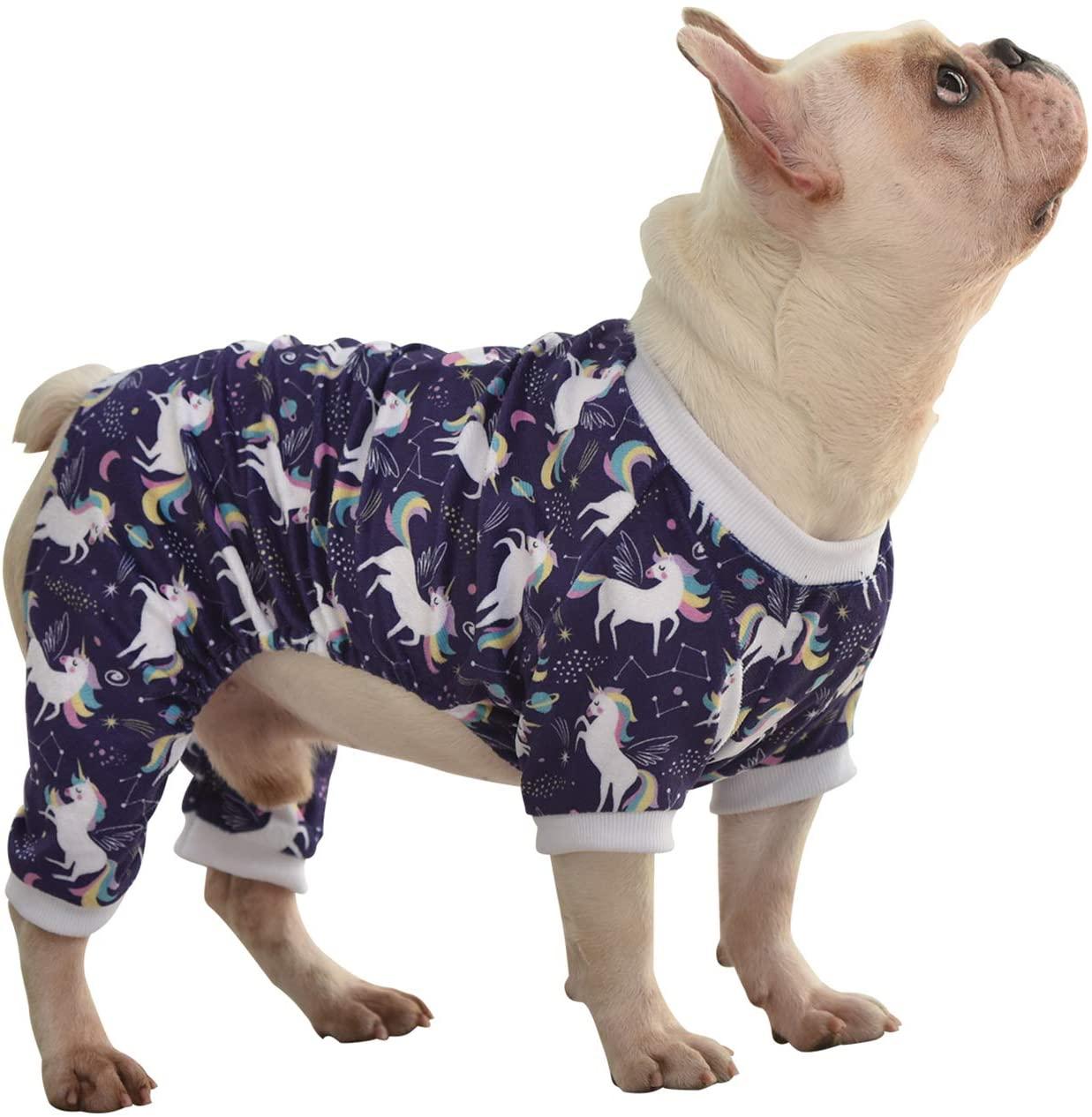 Pijama Blanco Unicornio para Perros