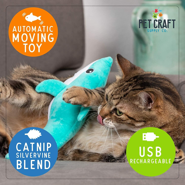 Juguete con Movimiento Tiburón para Gatos