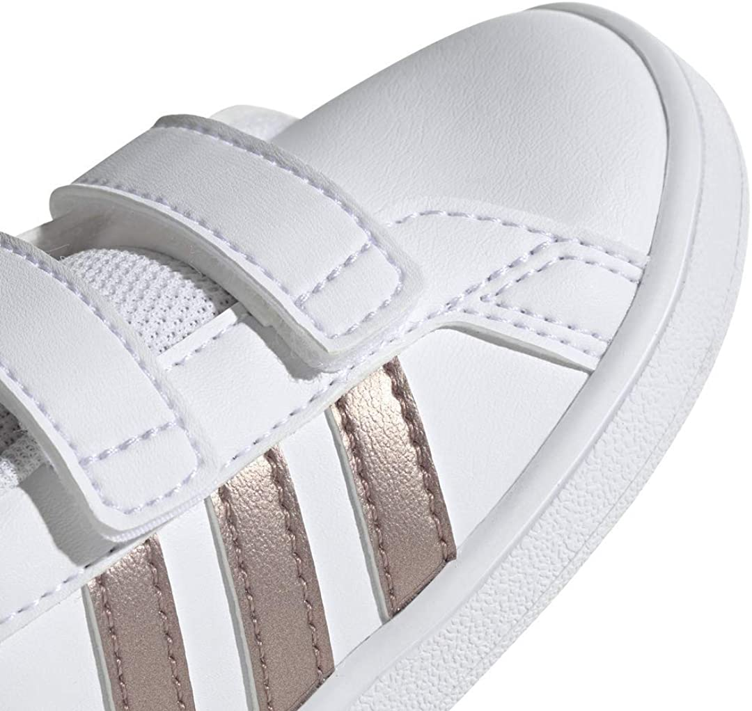 Adidas Unisex-Child Grand Court Sneaker Gris para Niñas