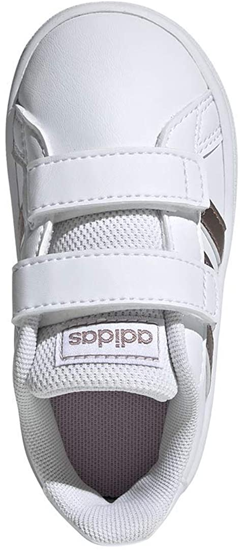 Adidas Unisex-Child Grand Court Sneaker Gris para Niñas