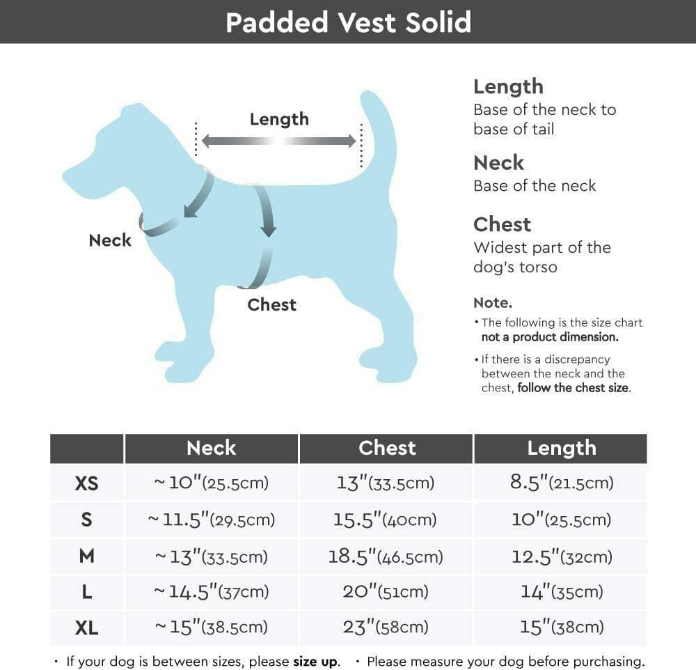 Chaleco con Cierre Espalda para Perros