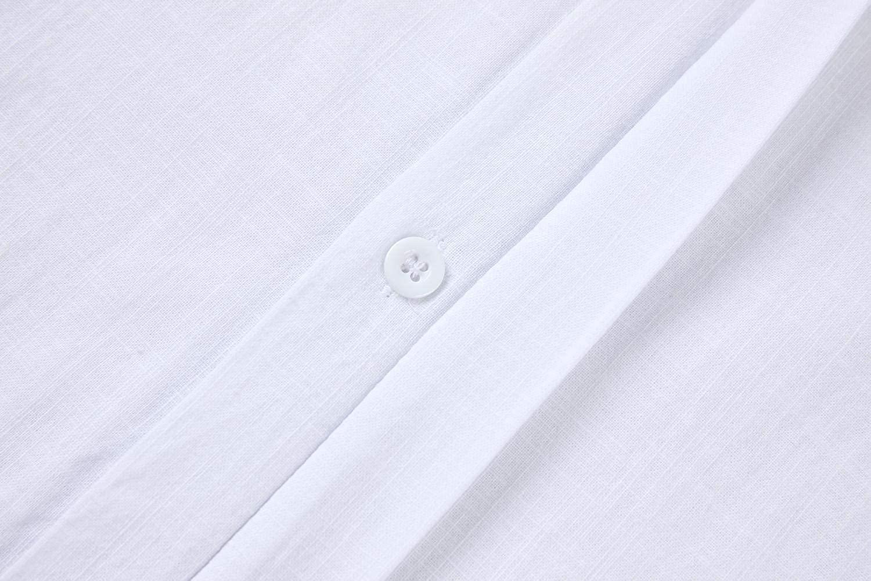 Makkrom Camisa de Lino Blanco Hombre
