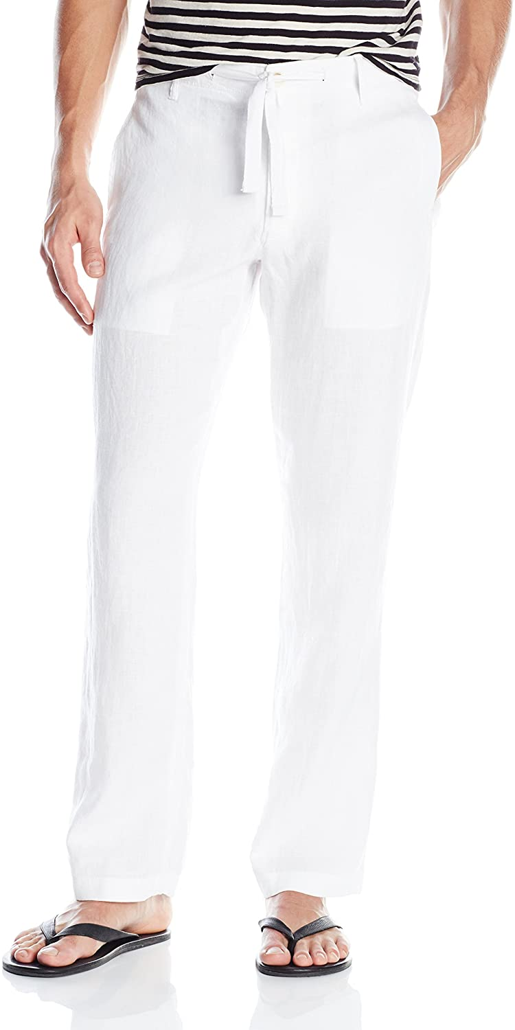 Perry Ellis Pantalón Bright White de Lino