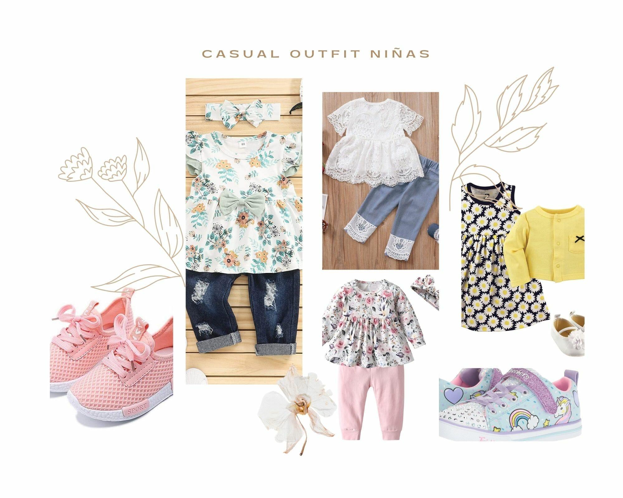 Casual Primavera Outfit Niñas