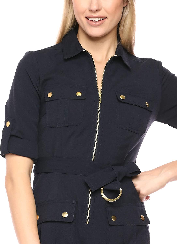 Sharagano Shirt Vestido Navy Mujer