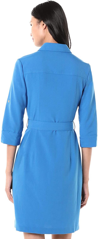 Sharagano Shirt Vestido Azul Mujer