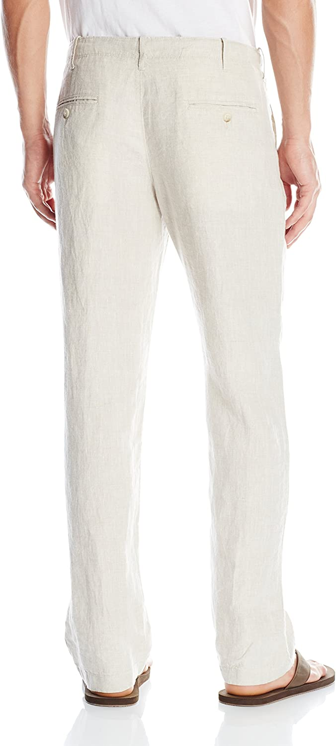 Perry Ellis Pantalón Natural de Lino