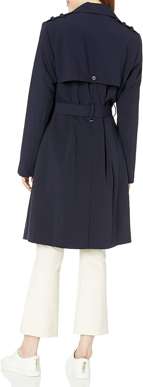 Calvin Klein Gabardina Navy Mujer