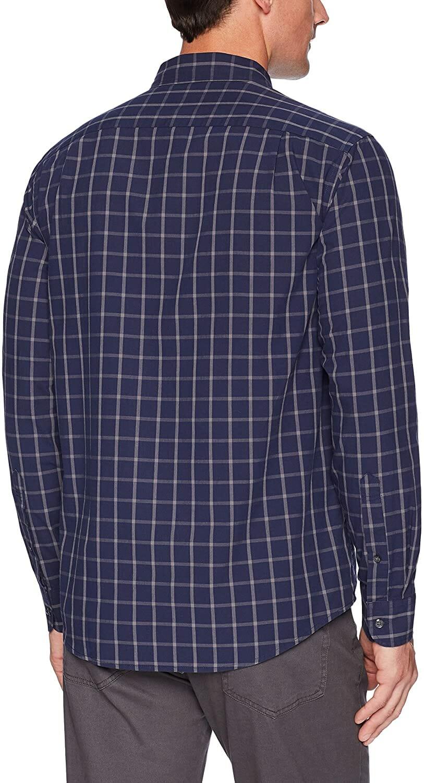 Amazon Camisa Manga Larga Navy Hombre