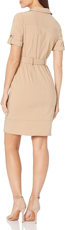 Maggy London Vestido Shirt Tan Mujer