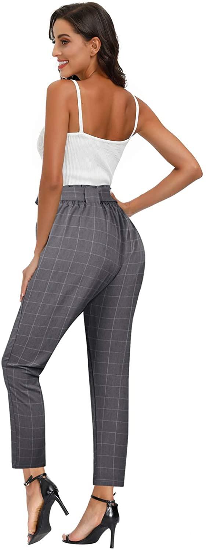 Yidarton Pantalón Corto Plaid Mujer