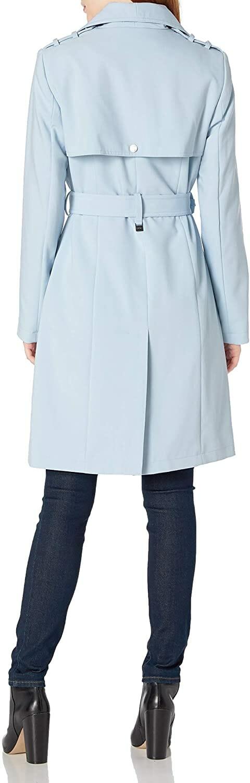 Calvin Klein Gabardina Azul Mujer