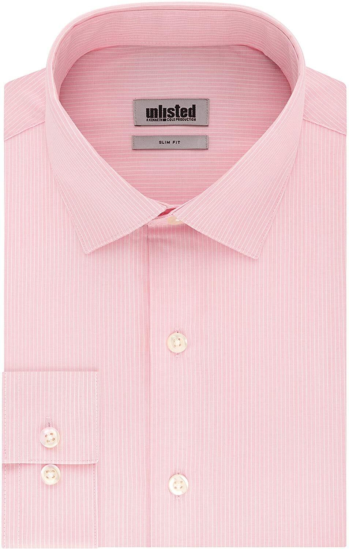 Kenneth Cole Camisa Manga Larga Apricot Hombre