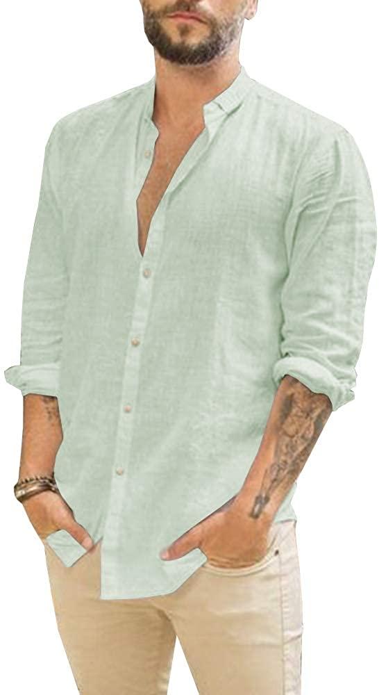 Makkrom Camisa de Lino Mint Green Hombre