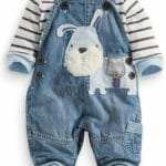 Conjunto Estilo Overol Light Blue Niños