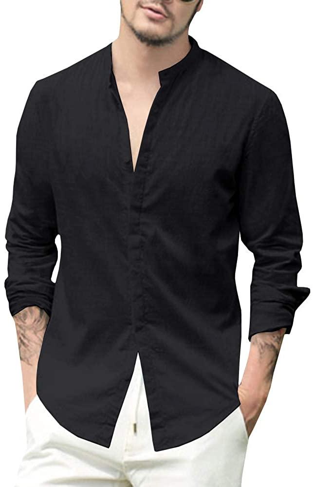 Makkrom Camisa de Lino Black Hombre