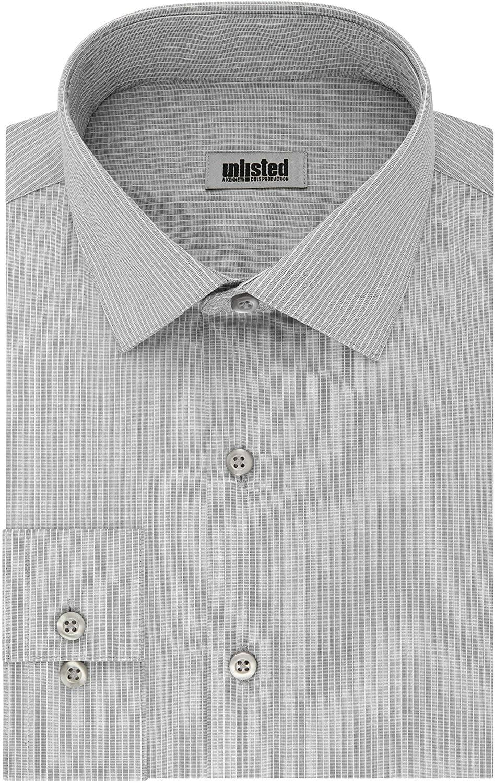 Kenneth Cole Camisa Manga Larga Carbon Hombre