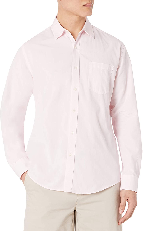 Amazon Camisa Manga Larga Pink Hombre
