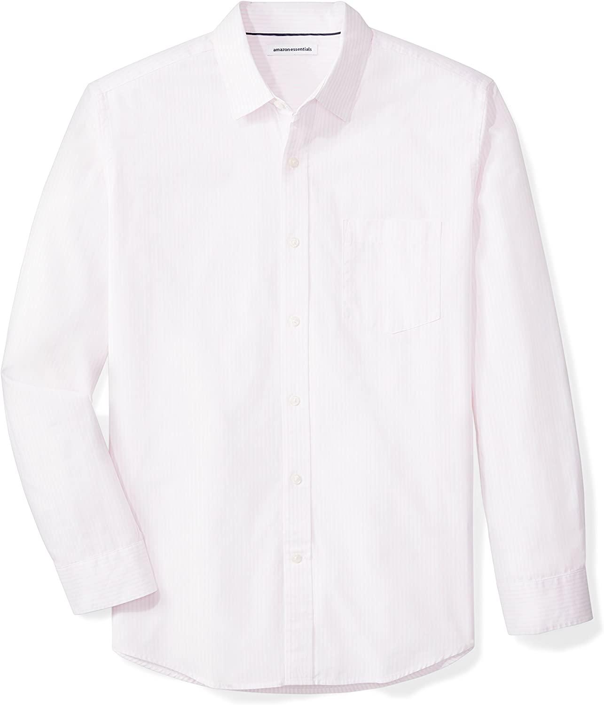 Amazon Camisa Manga Larga White Pink Hombre