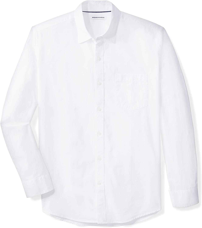 Amazon Camisa Manga Larga White Hombre